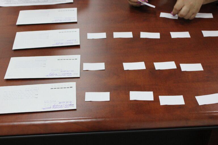 Протокол жеребьёвки по распределению бесплатной печатной площади