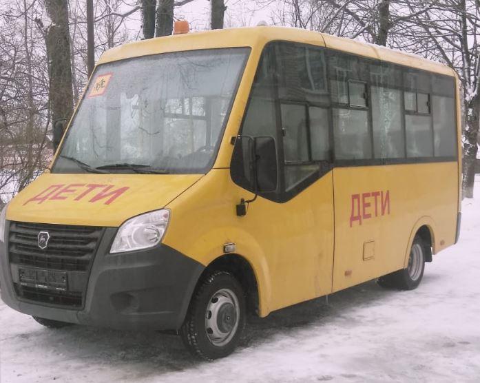 В Новодугинскую школу поступил новый автобус взамен старого